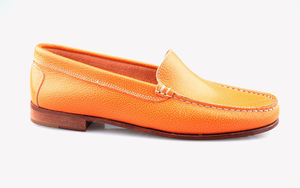 Iris leather 473 vulcano arancio