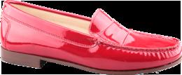 Iris leather 471 patent rosso